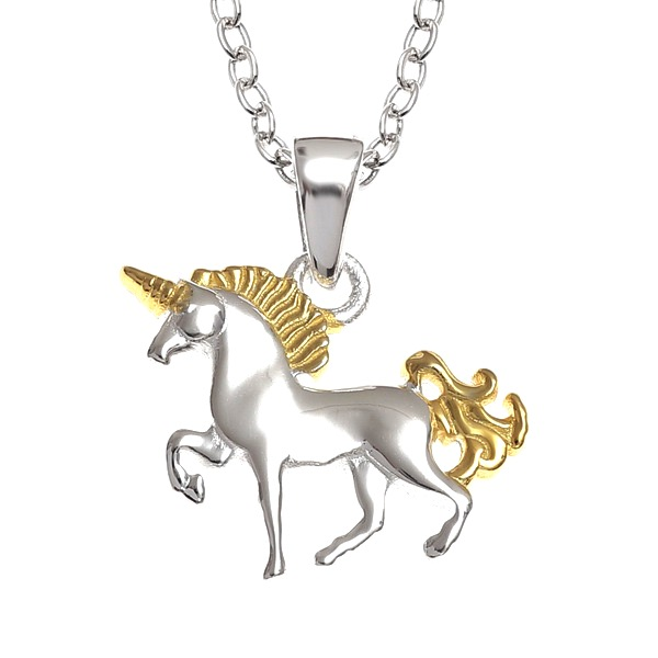 Beautiful Two Tone Unicorn Necklace