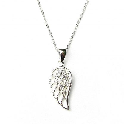 Absolutely Stunning Crystal Angel Wing Necklace