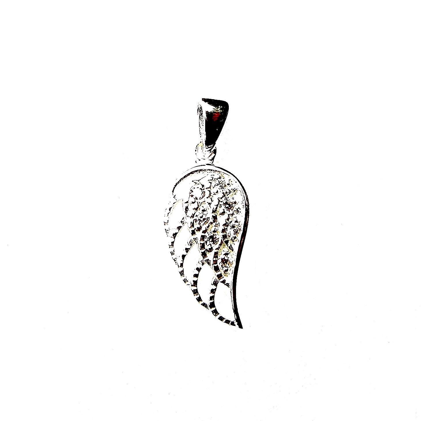 Absolutely Stunning Crystal Angel Wing Pendant
