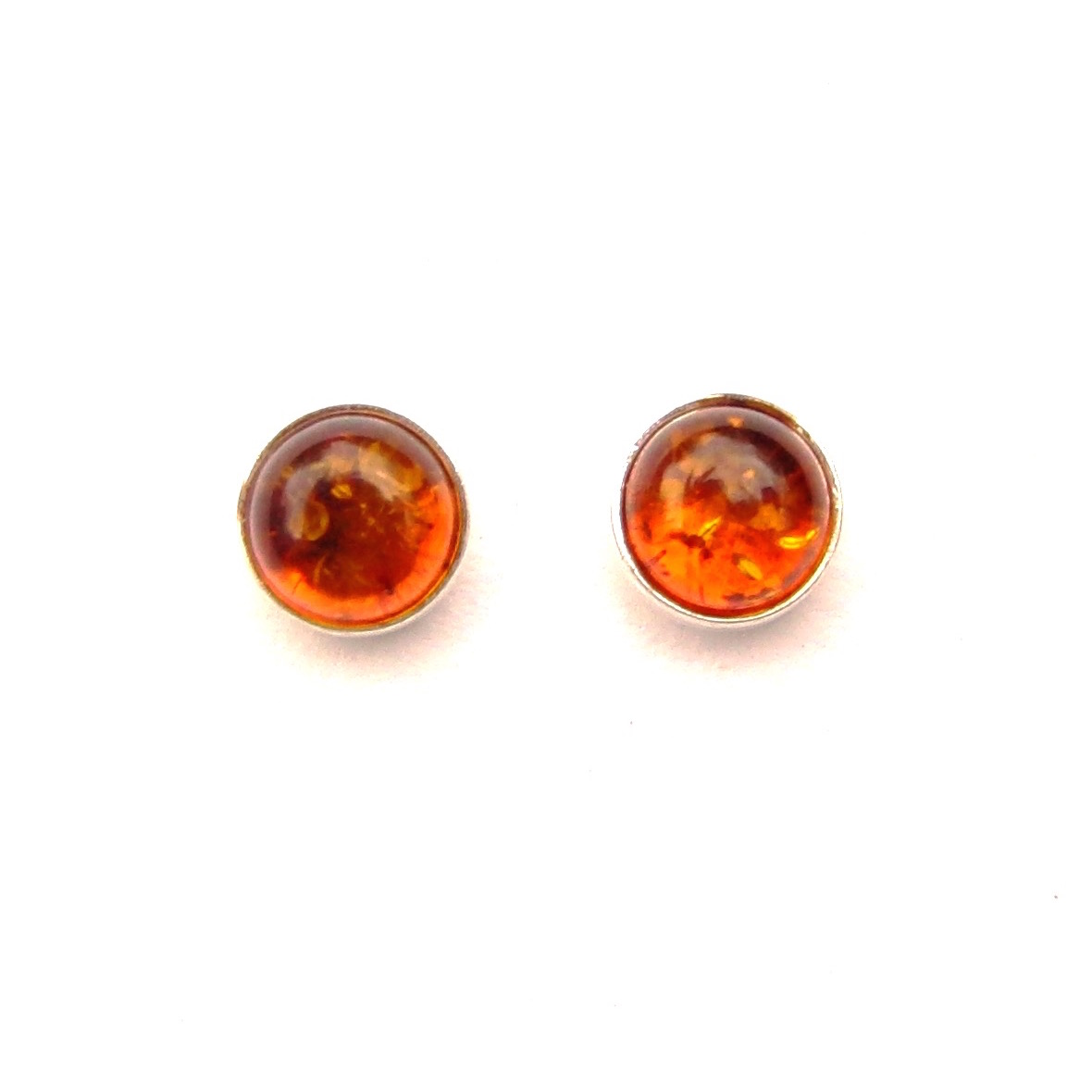 Lovely Amber Round Studs