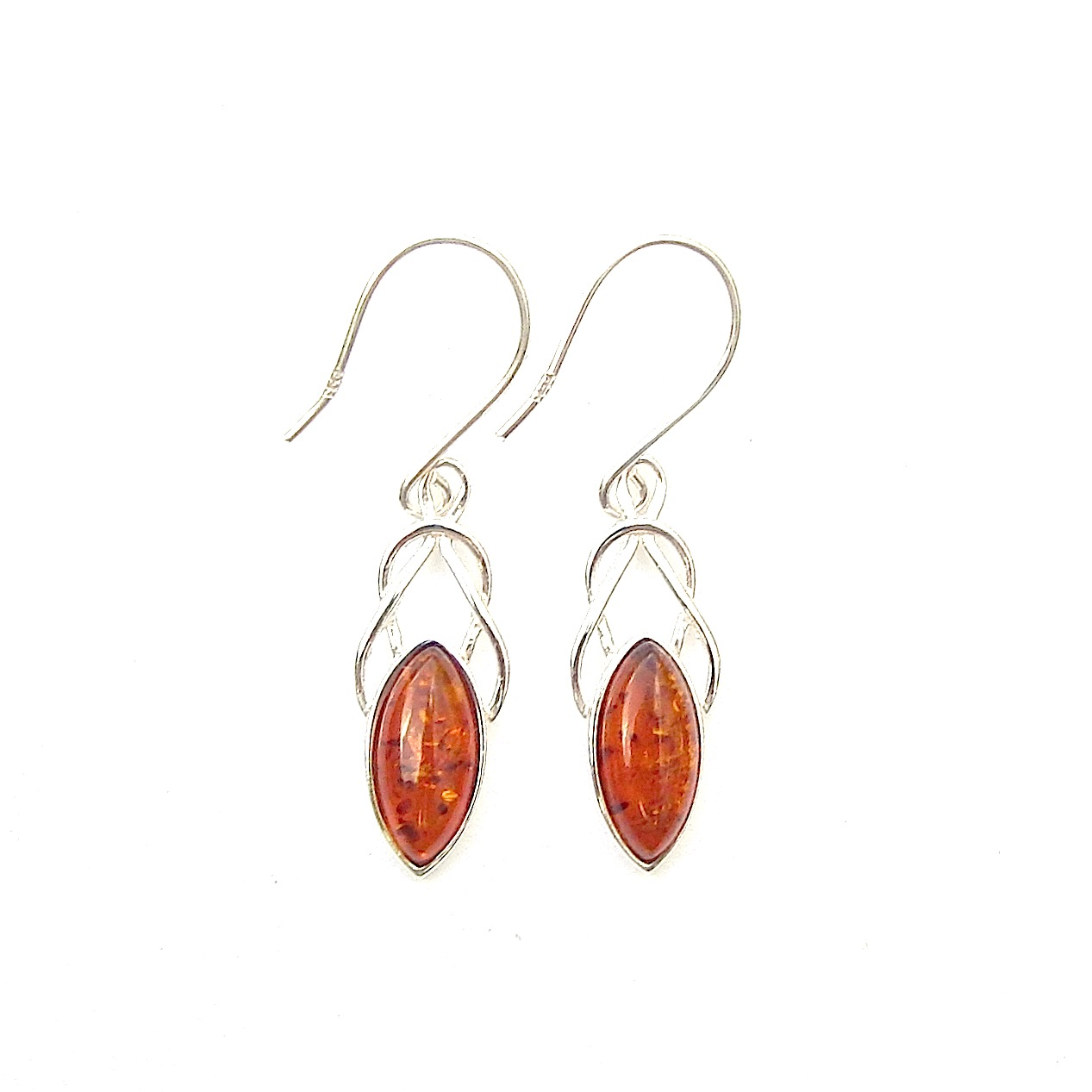 Amber Marquise Knot Earrings