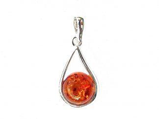Lovely Amber Round Pendant