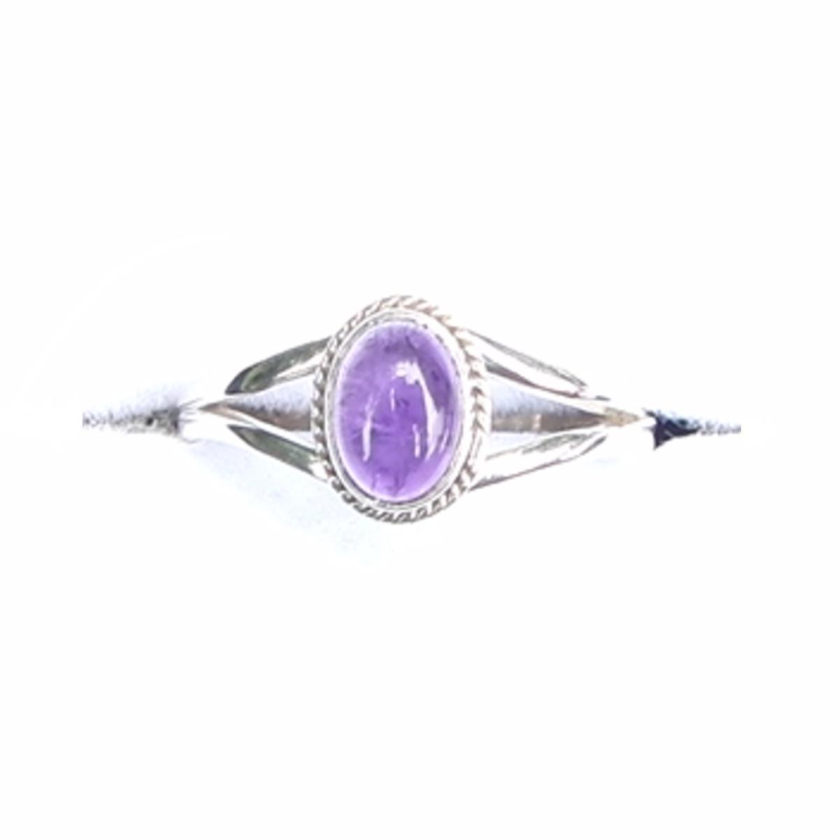 Amethyst Dainty Ring