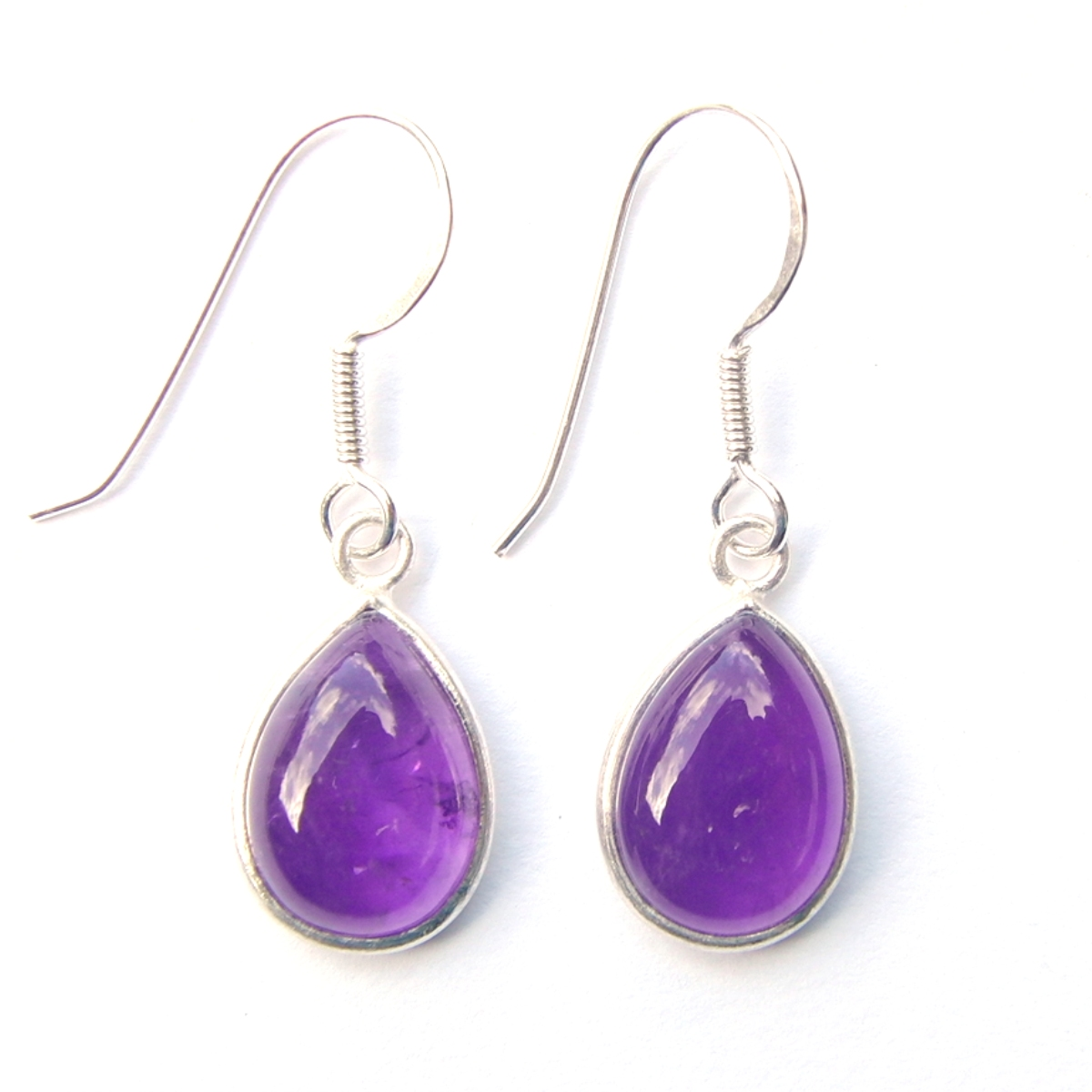Amethyst Large Teardrop Earrings.