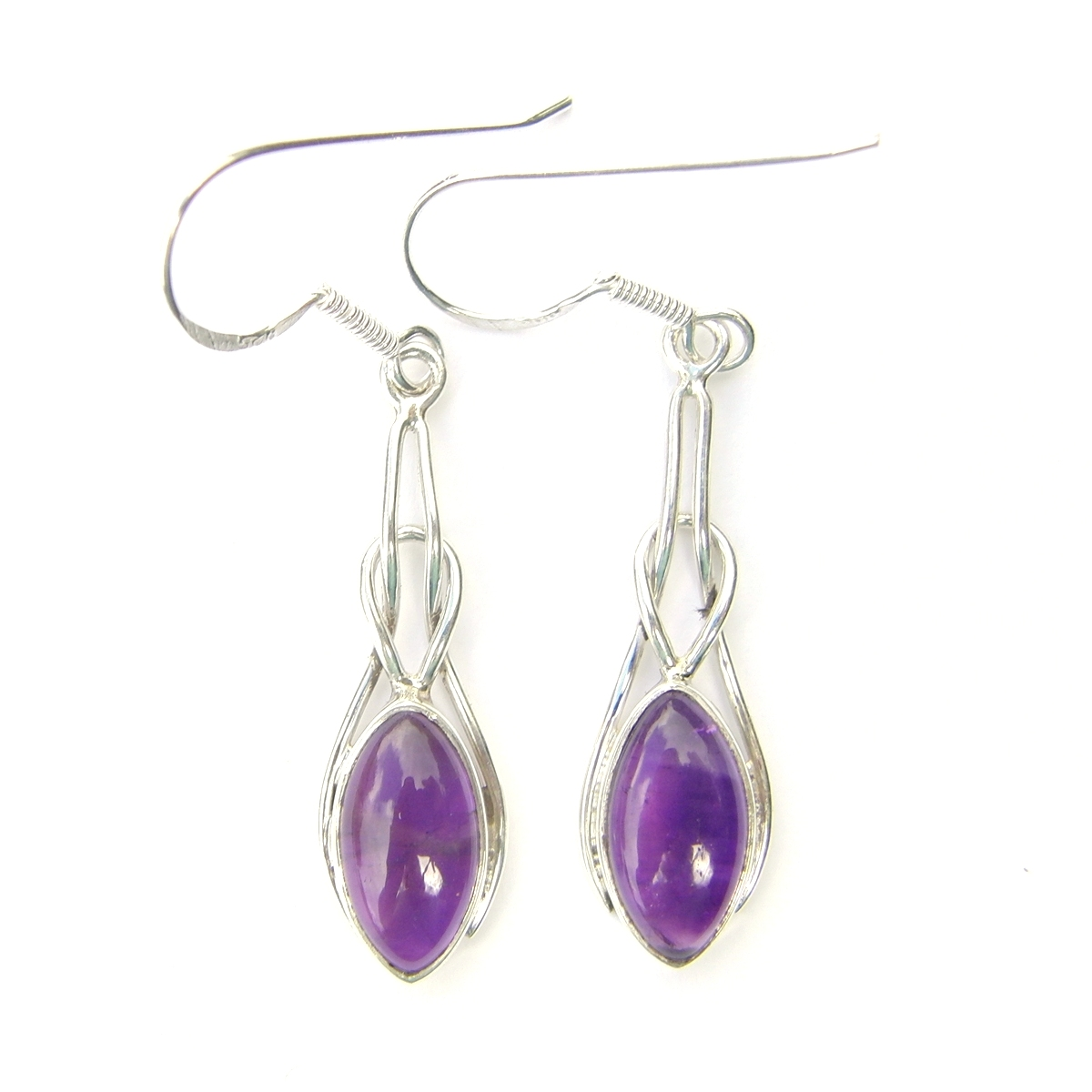 Amethyst Marquise Knot Earrings