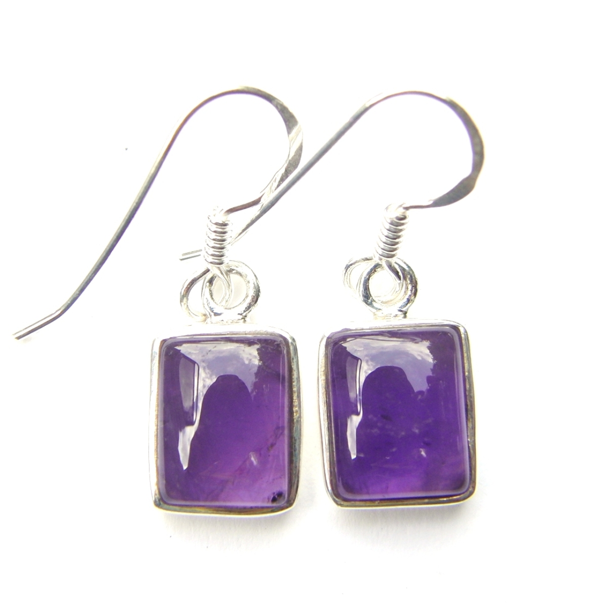 Amethyst Rectangular Earrings