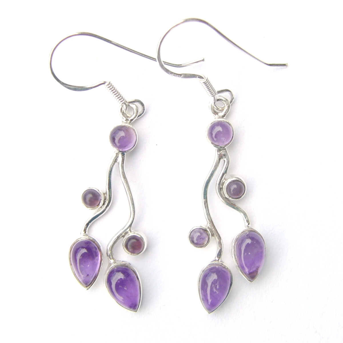 Amethyst Multi Cab Earrings