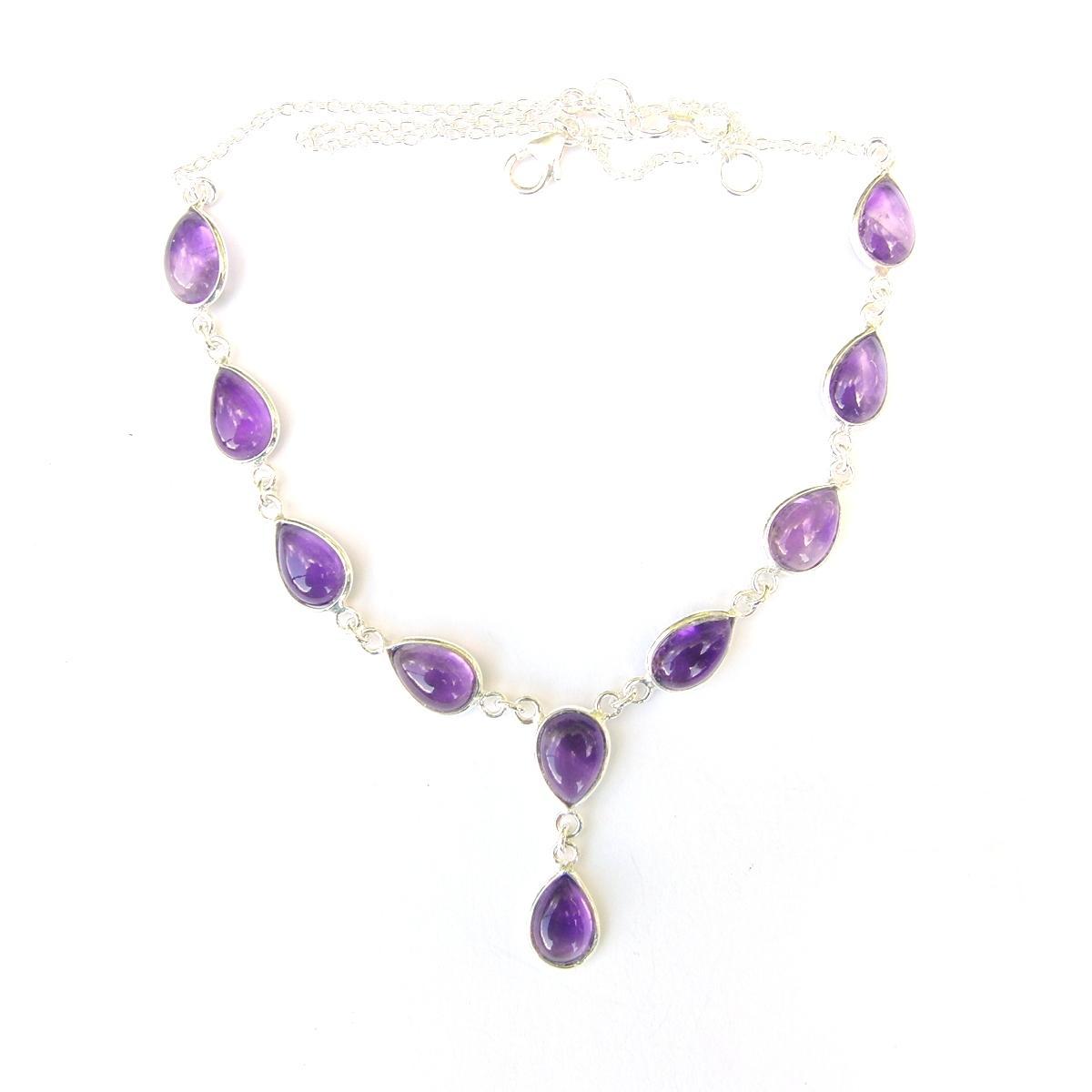 Amethyst Large Teardrop Necklace