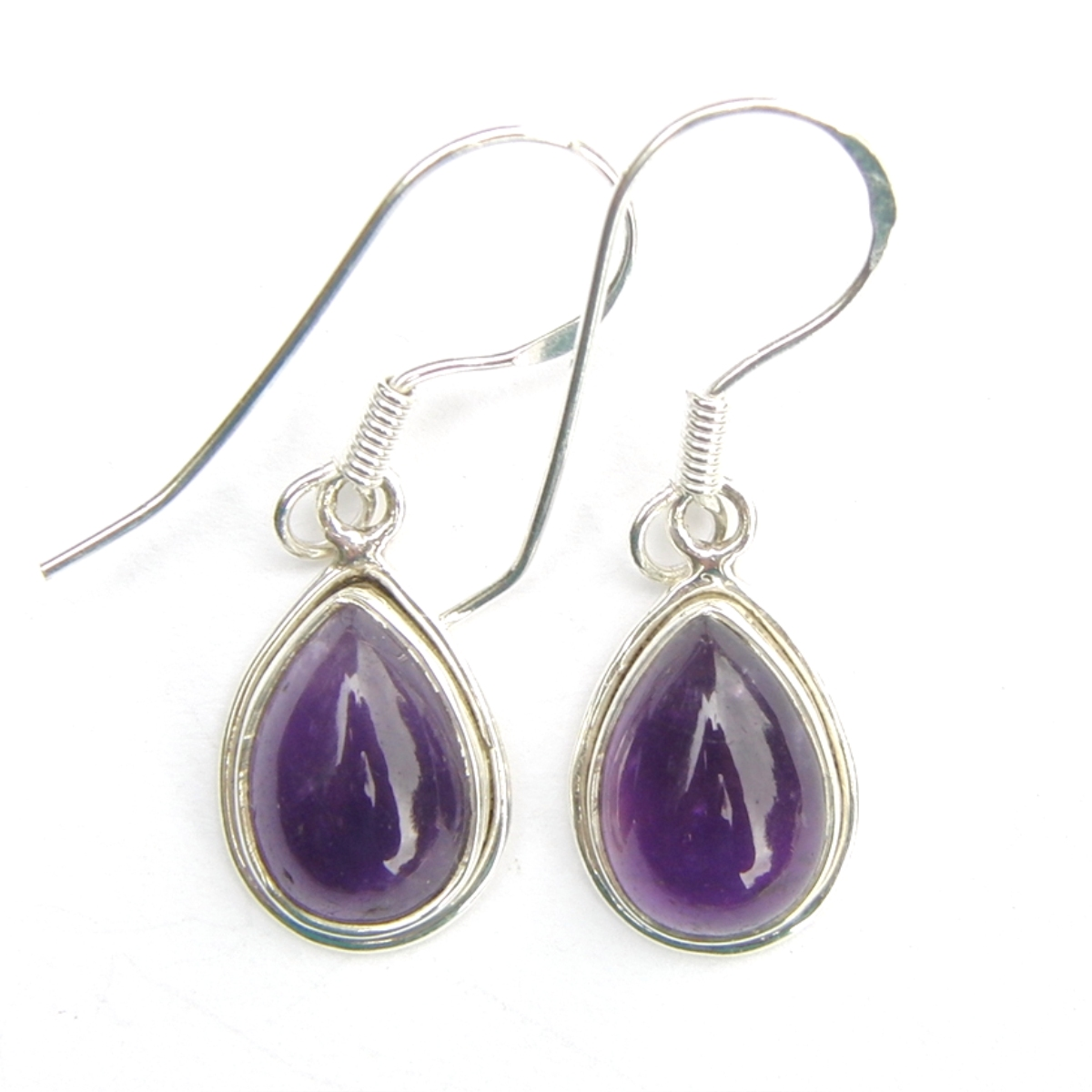 Amethyst Med Teardrop Earrings