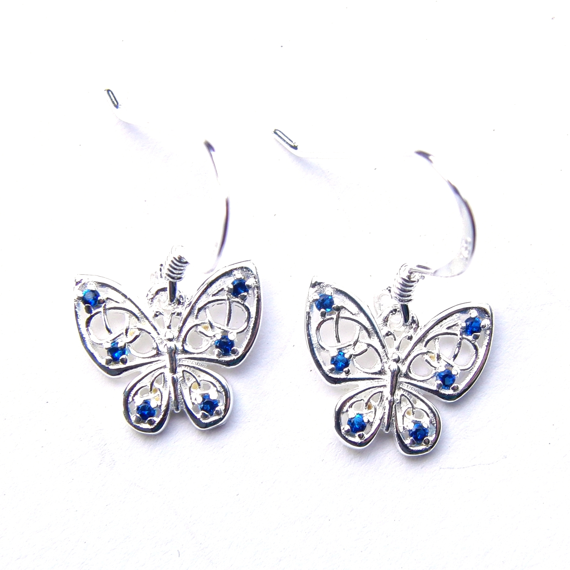 Beautiful Blue Butterfly Earrings.