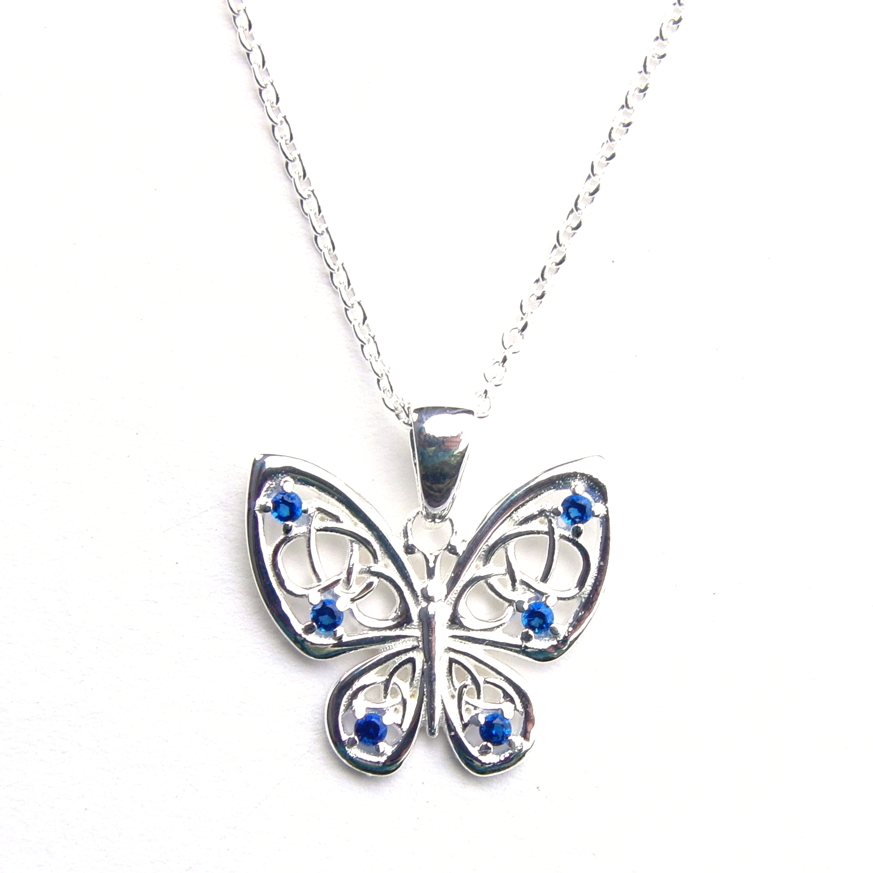 Beautiful Blue Butterfly Necklace.