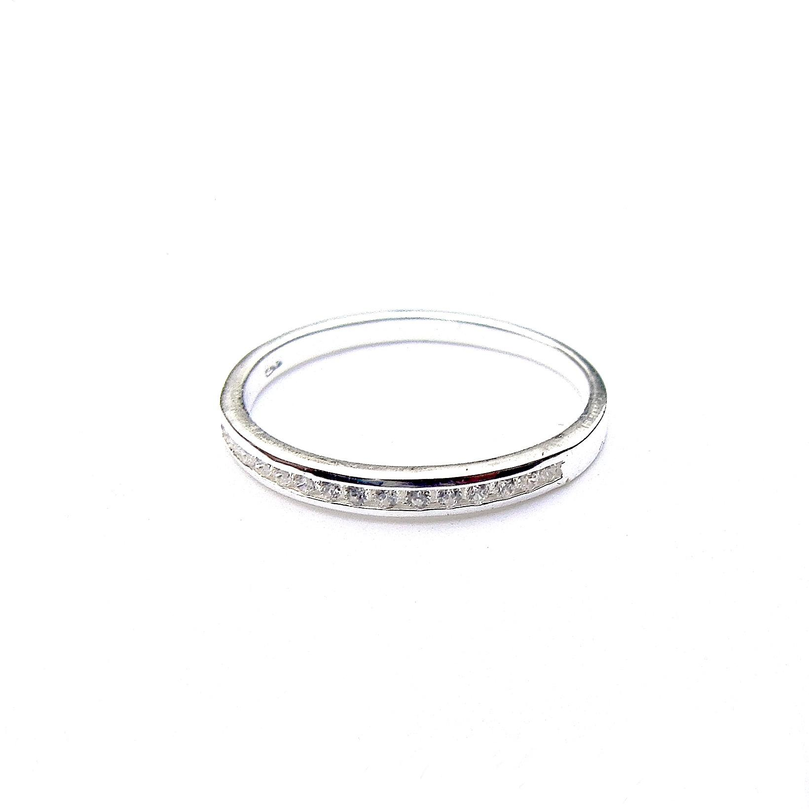 Beautiful Silver Dainty Crystal Ring