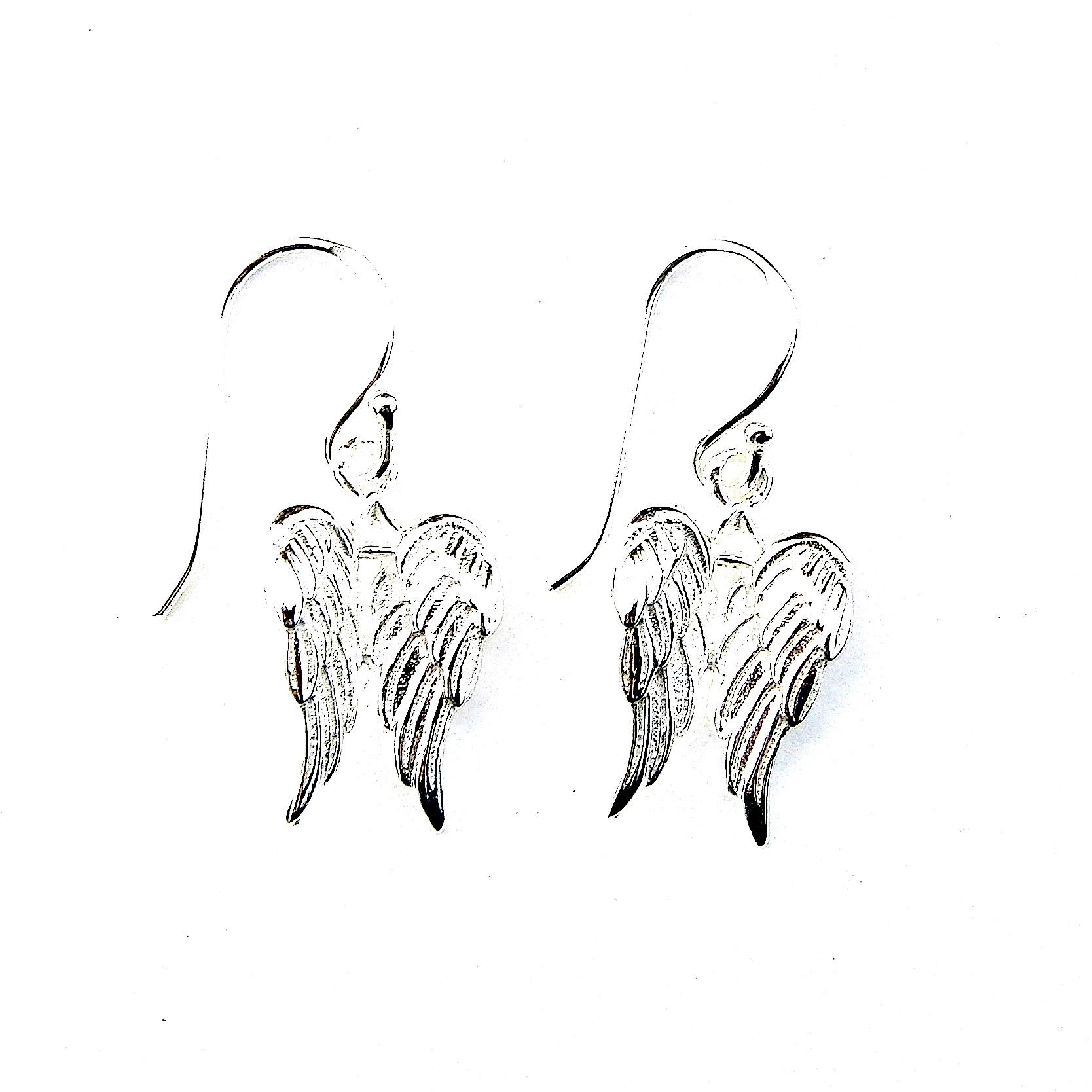 Stunning Double Angel Wing Earrings