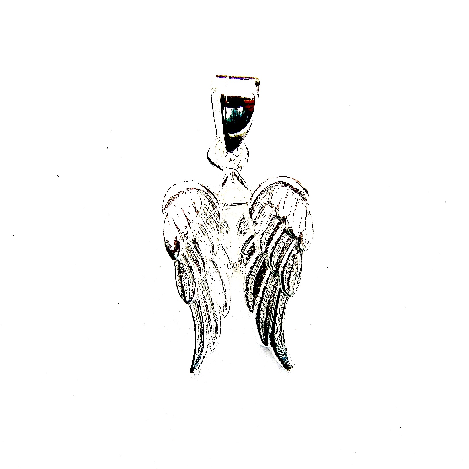 Stunning Double Angel Wing Pendant