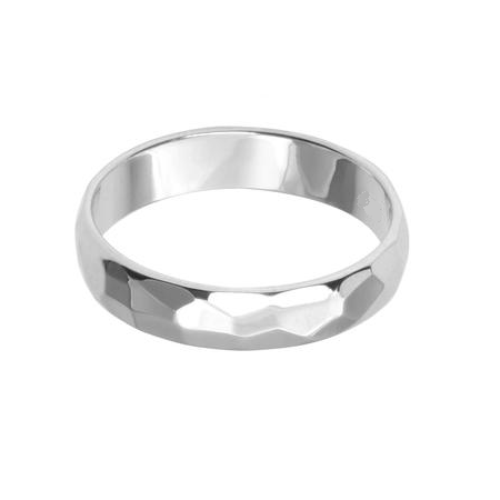 Beautiful Hammered Band Ring