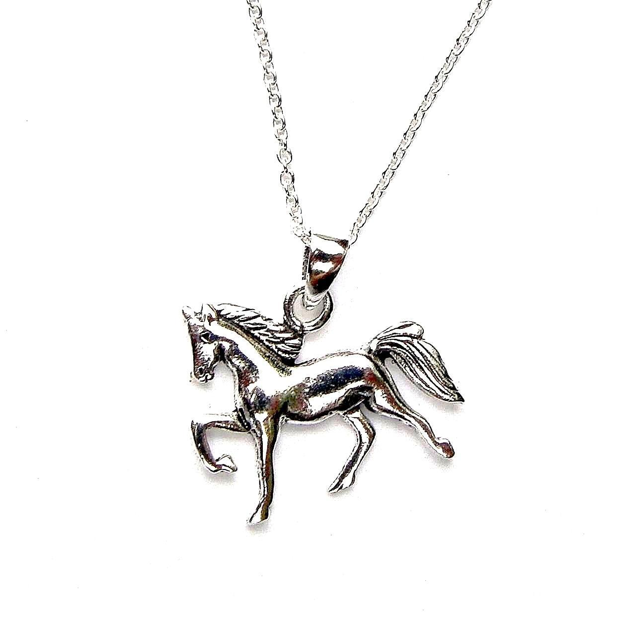 Beautiful Silver Horse Necklace