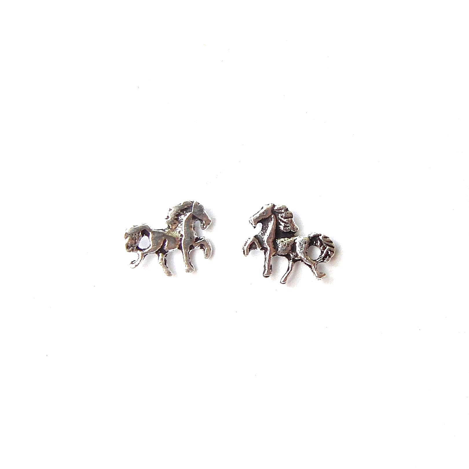 Beautiful Silver Horse Studs