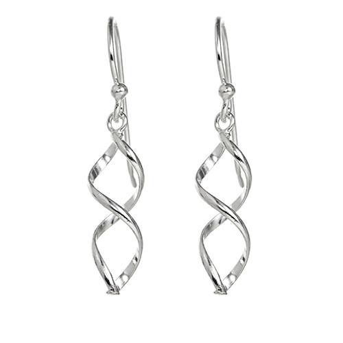 Beautiful Silver Spiral Earrings.