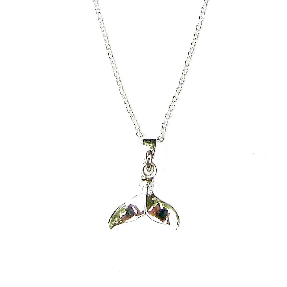 Beautiful Silver Whale Tail Necklace