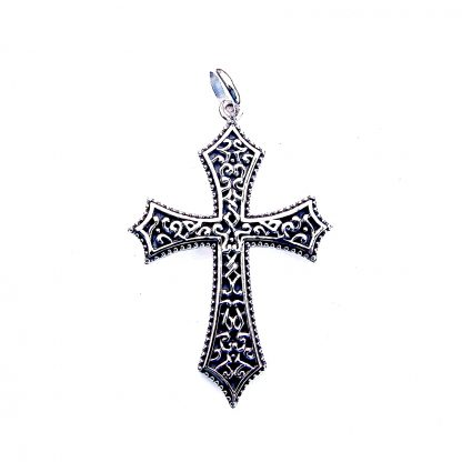 Beautiful X Large Decorative Silver Cross