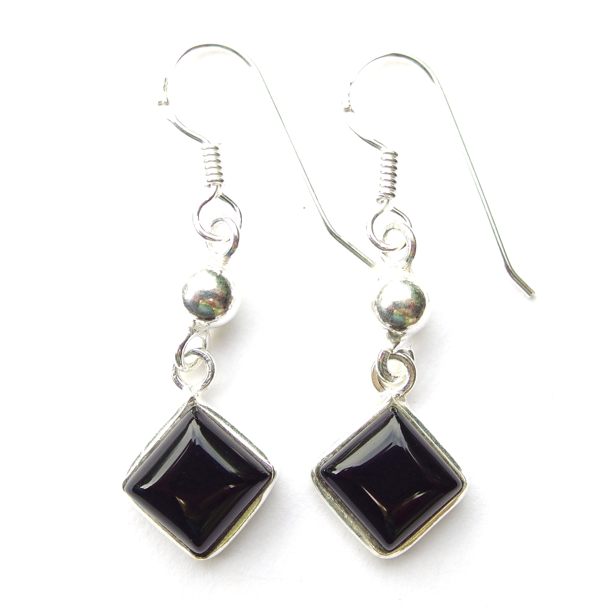 Black Onyx Diamond Earrings