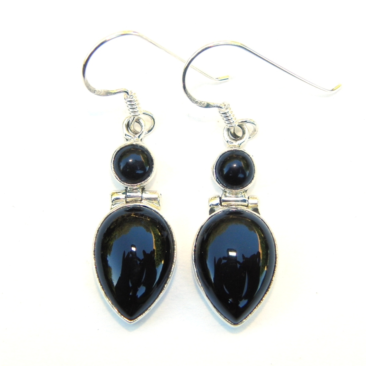 Black Onyx Large Goddess Earrings.