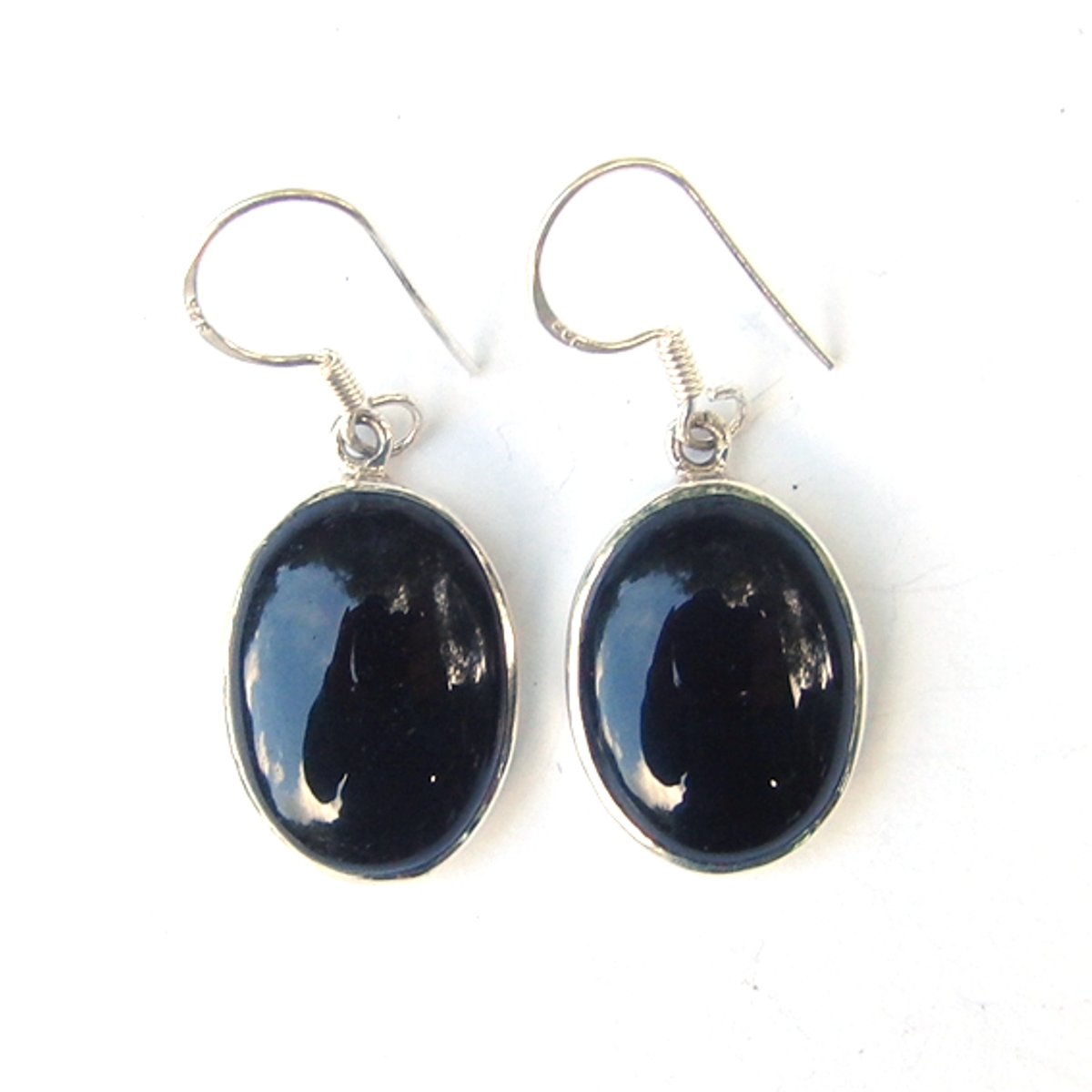 Black Onyx Large Cab Earrings.