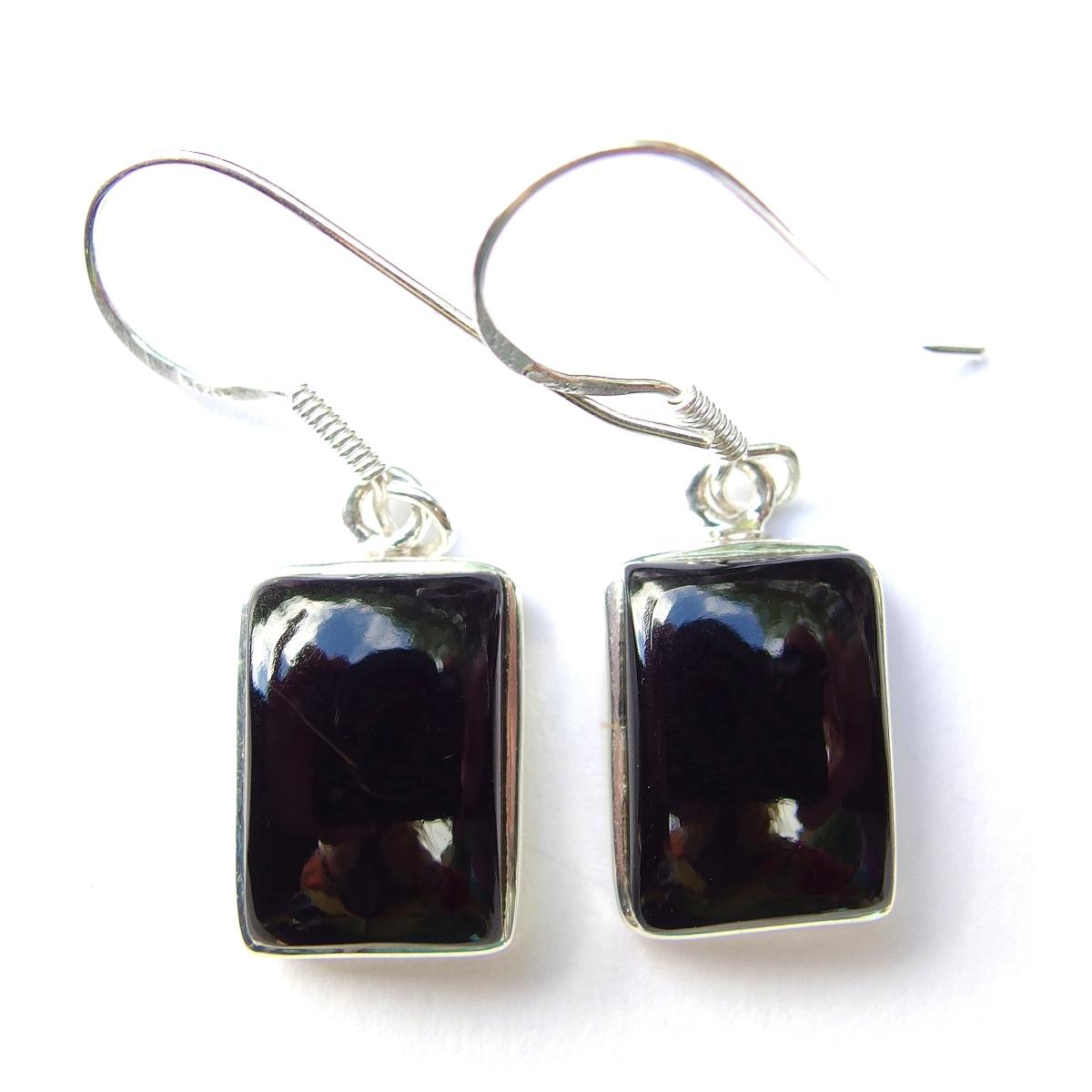 Onyx Large Rectangular Earrings