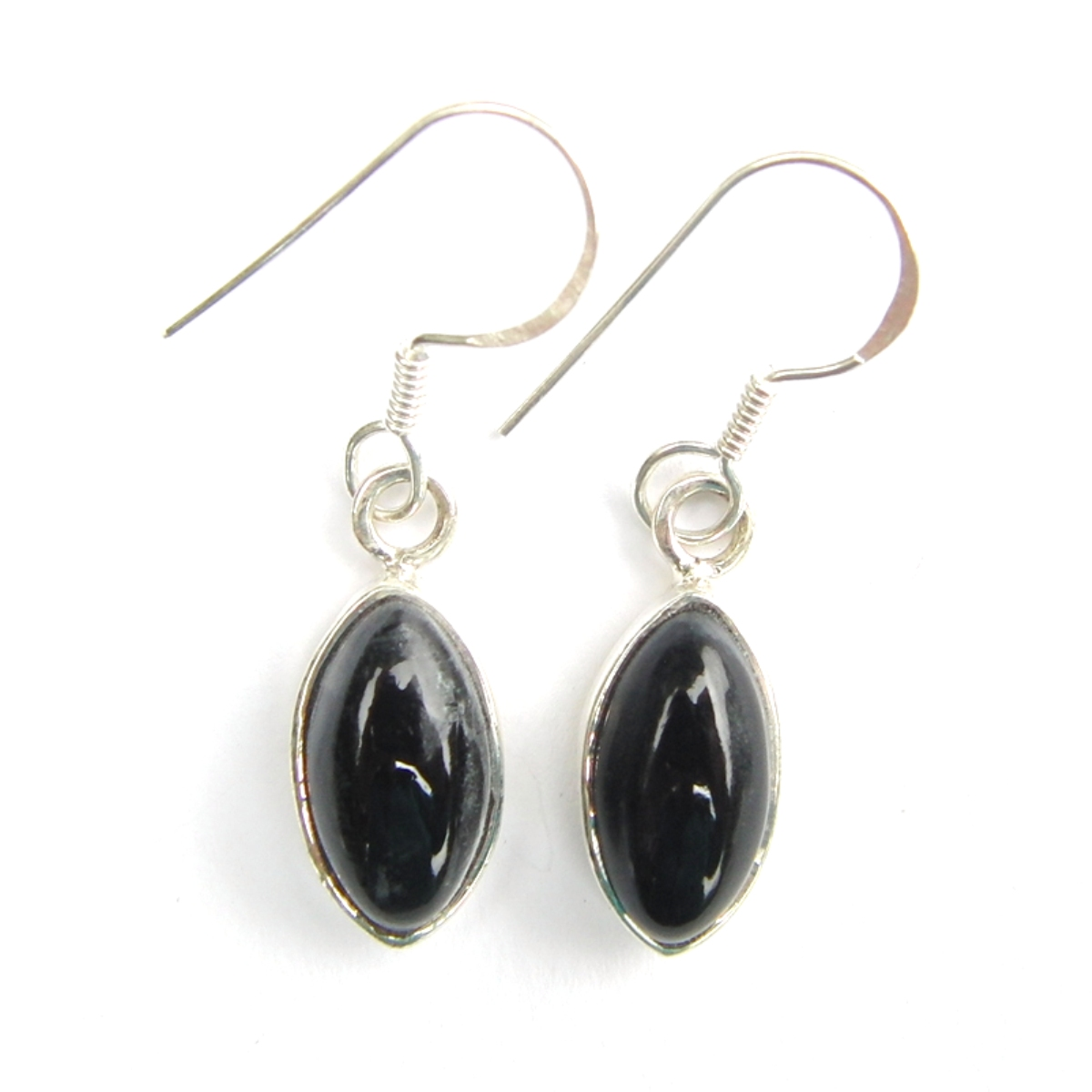 Black Onyx Marquise Earrings