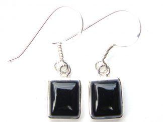 Onyx Medium Rectangular Earrings