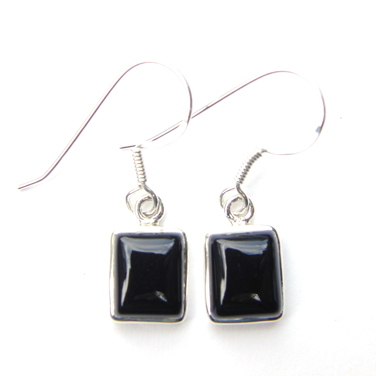 Onyx Medium Rectangular Earrings
