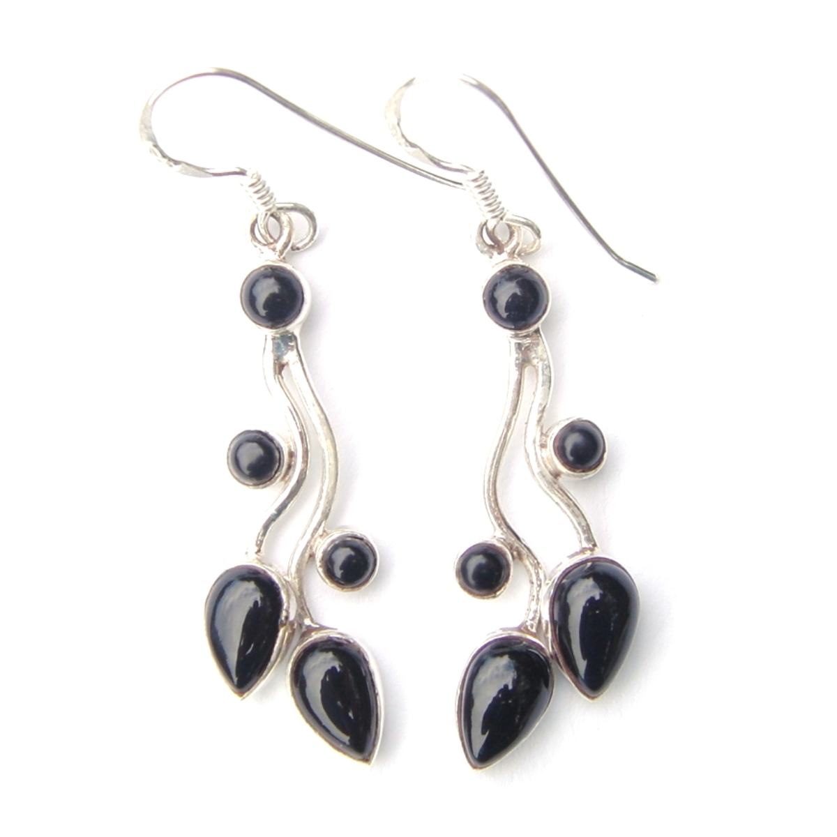 Black Onyx Multi Cab Earrings