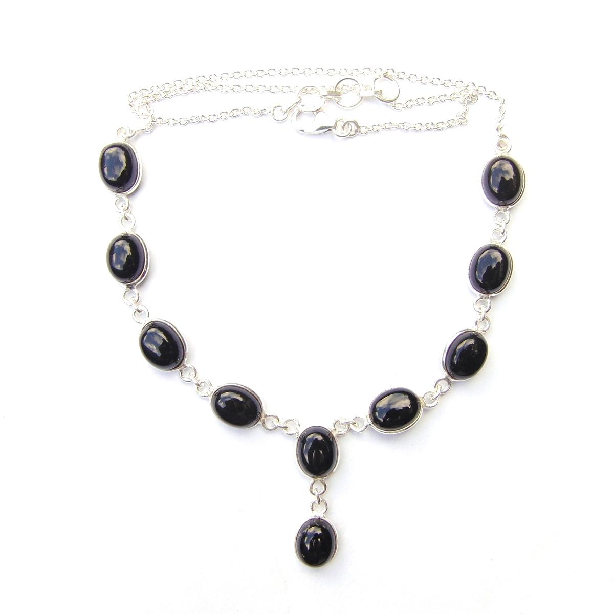 Black Onyx Oval Necklace