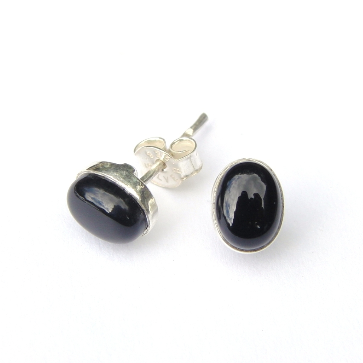 Black Onyx Small Oval Studs