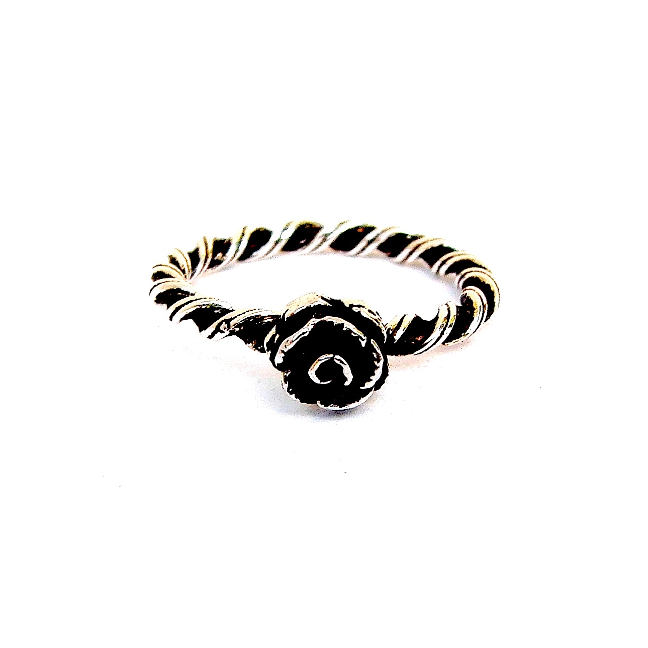 Beautiful Silver Rose Stacking Ring