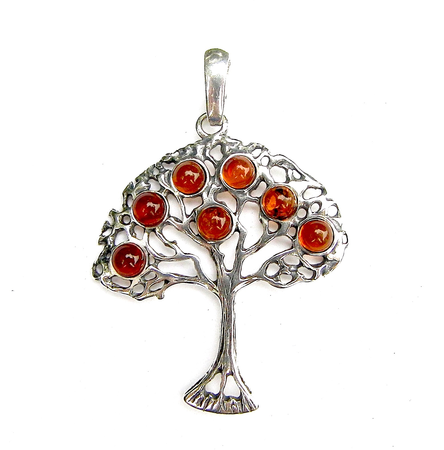Stunning X Large Amber Tree of Life Pendant
