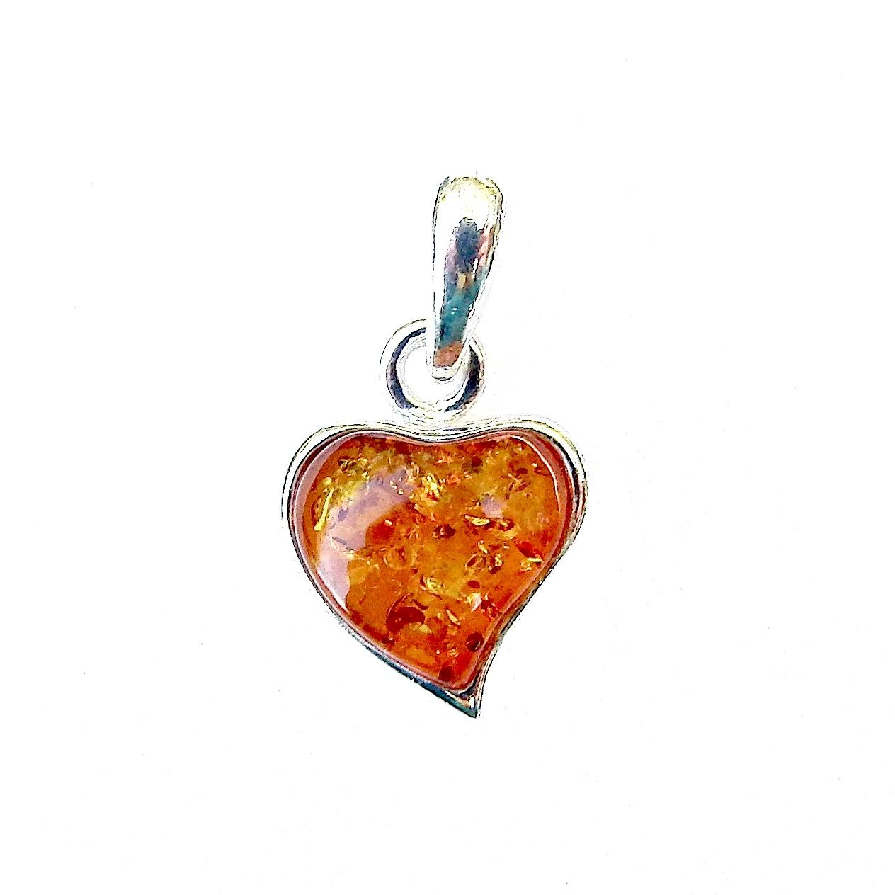 Beautiful Amber Heart Pendant