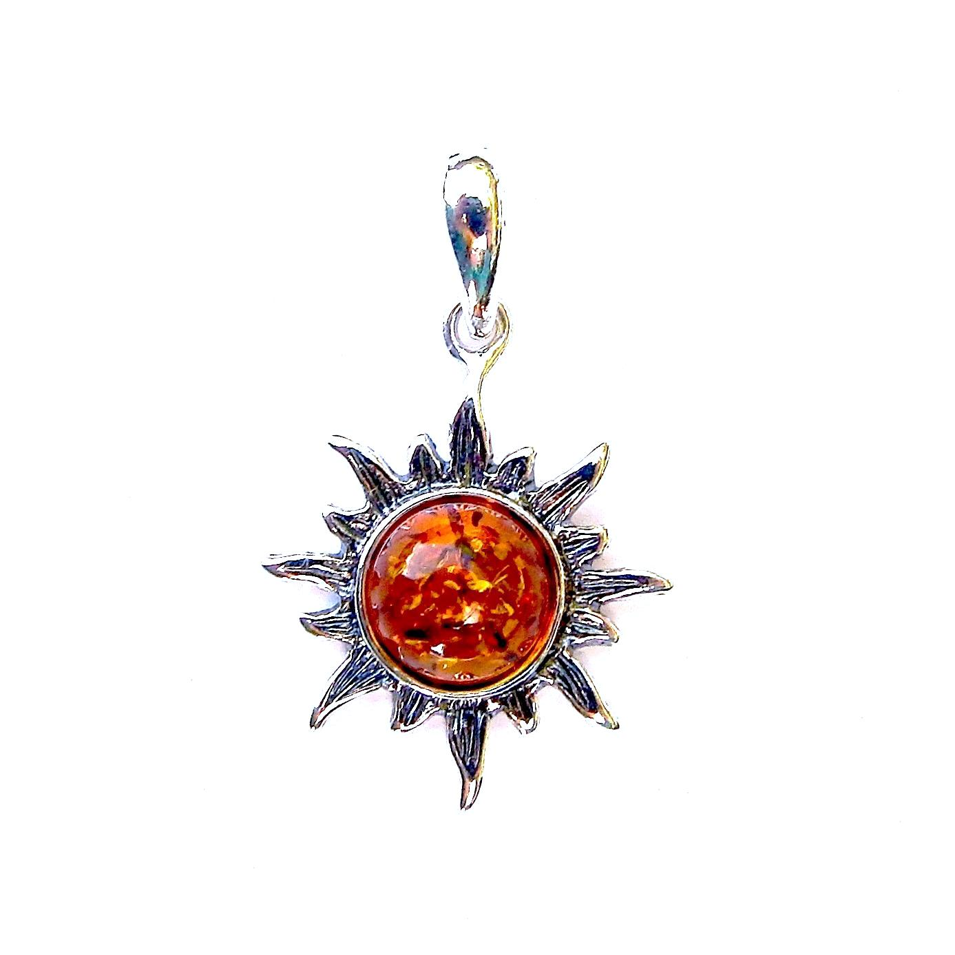 Beautiful Amber Round Pendant