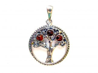 Lovely Amber Tree of Life Pendant