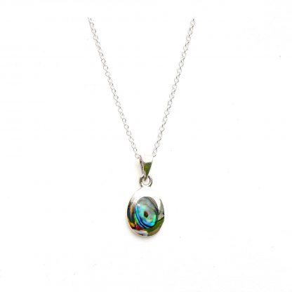 Stunning Oval Dainty Abalone Necklace
