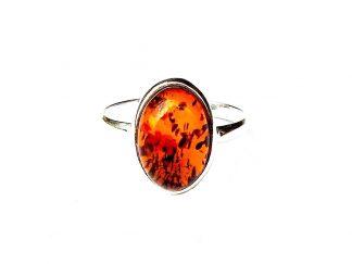 Beautiful Amber Oval Ring