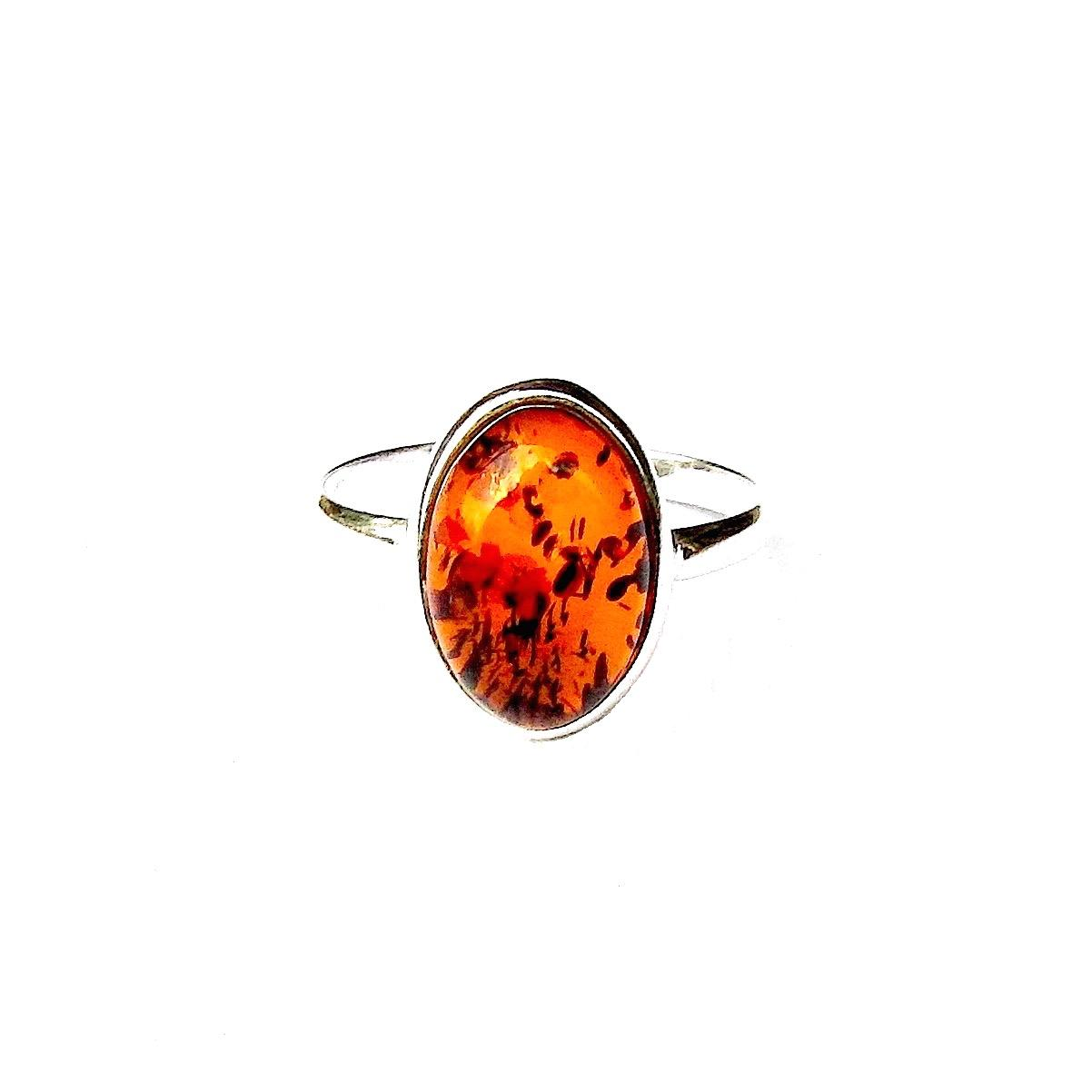 Beautiful Amber Oval Ring