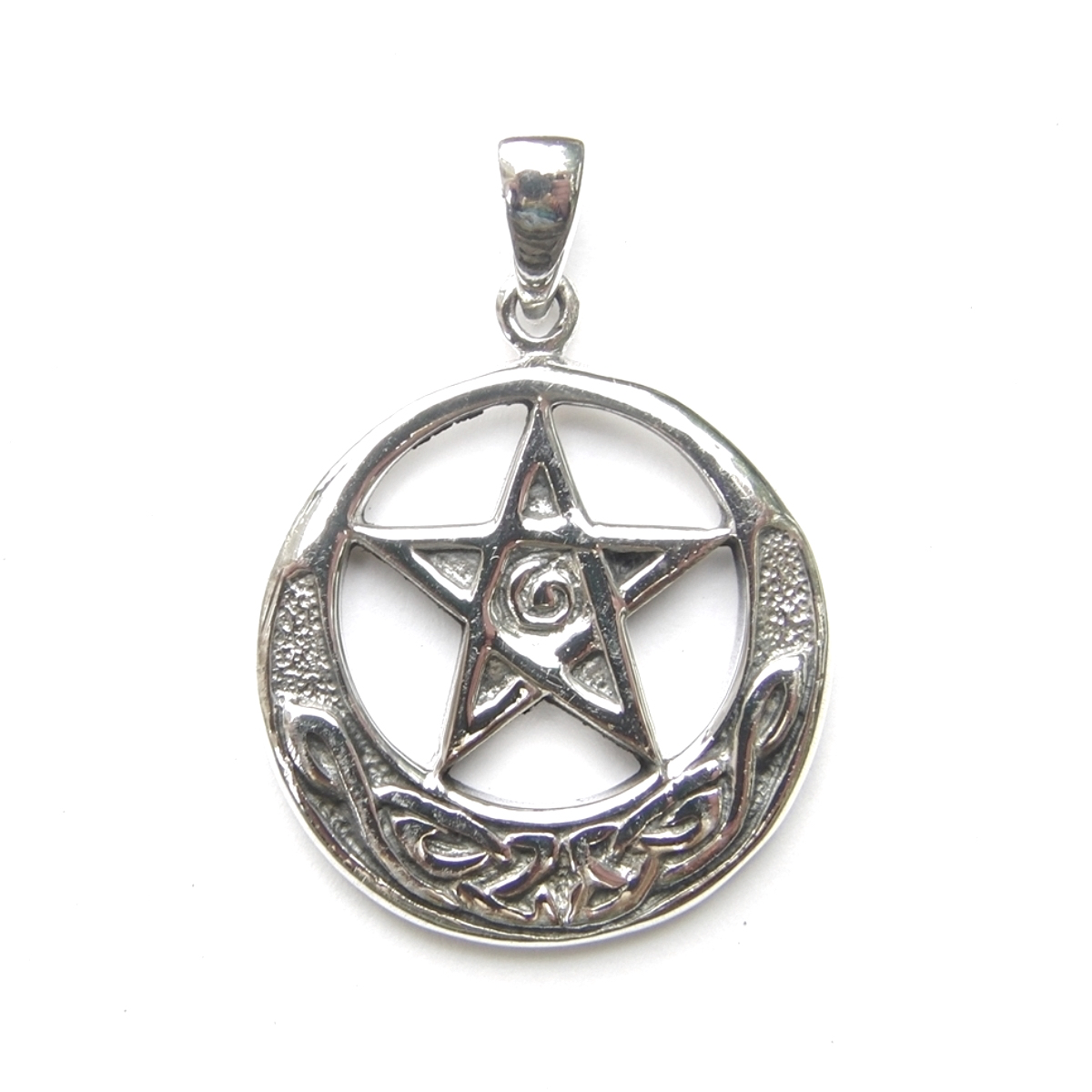 Silver Medium Celtic Pentagram Pendant