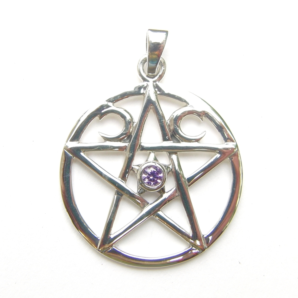 Triple Moon Pentagram Pendant.