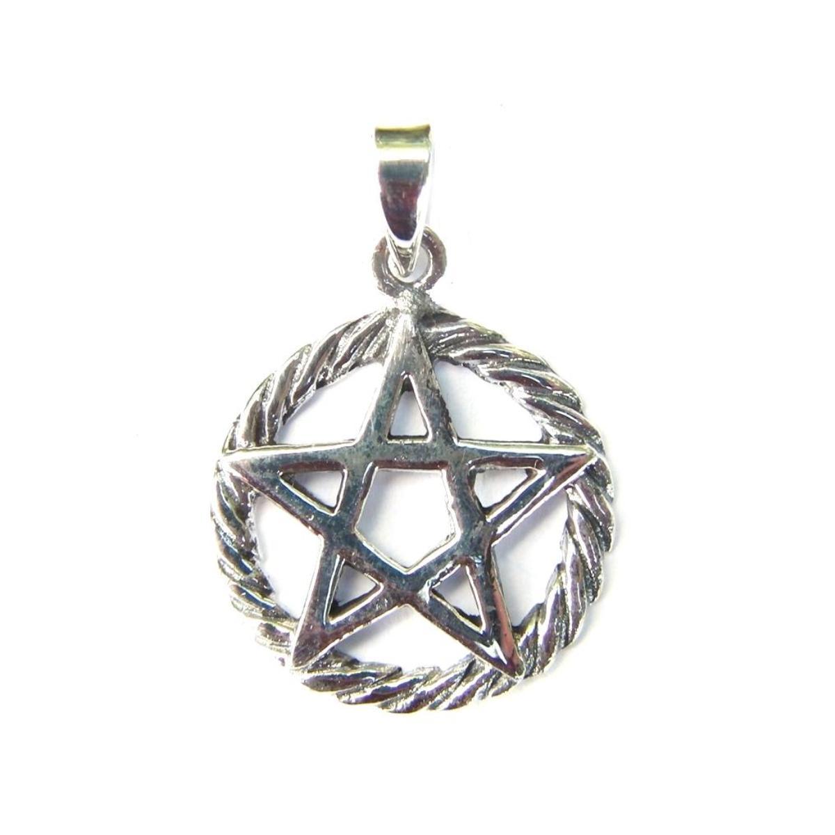 Lovely Pentagram Silver Pendant.