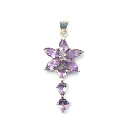 Amethyst Faceted Pendant.