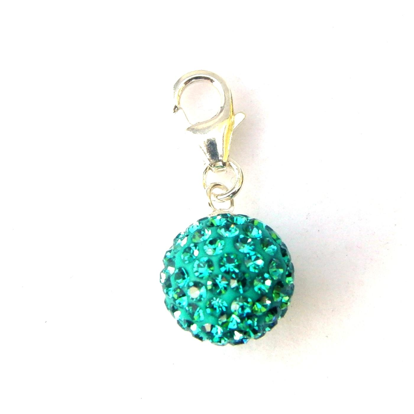 Blue Zircon Spectrum Charm