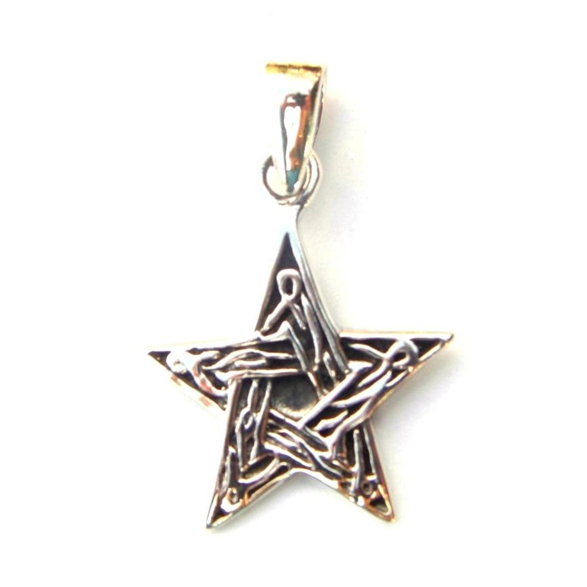 Lovely Celtic Chunky Pentagram Pendant