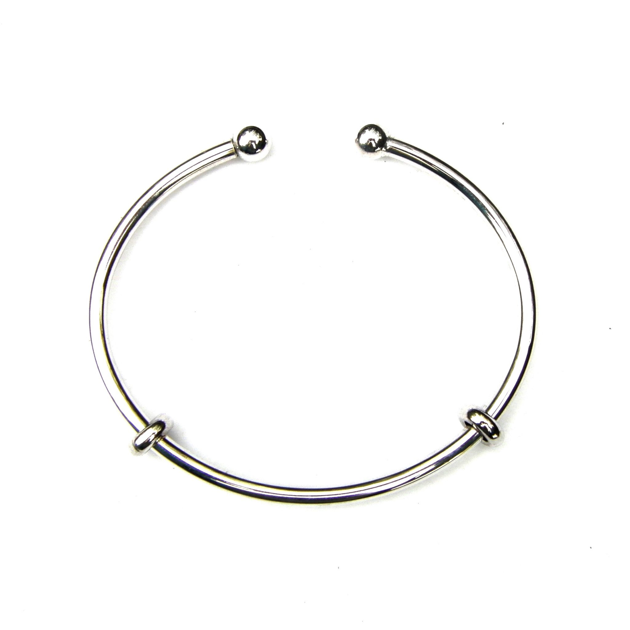 Beautiful Silver Charm Bangle