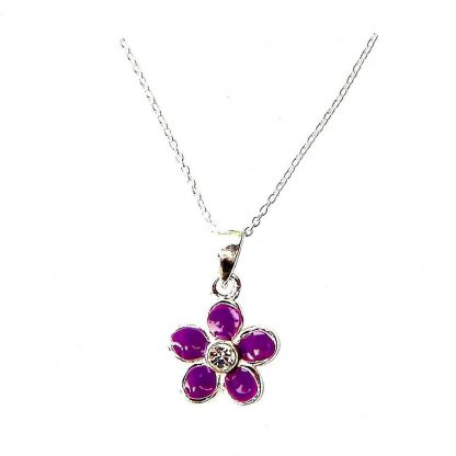 Child's Purple Flower Necklace